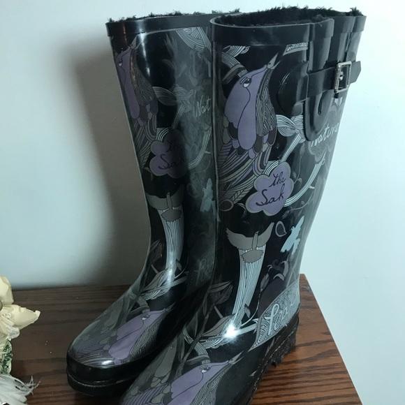 5130576f8 Sakroots Shoes | Sak Roots Faux Fur Lined Rain Boots Size 7 Guc ...
